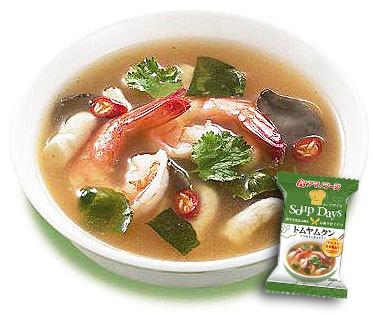 タイのトムヤムクン9gX60袋セット【アマノフーズのフリーズドライ世界のスープ】