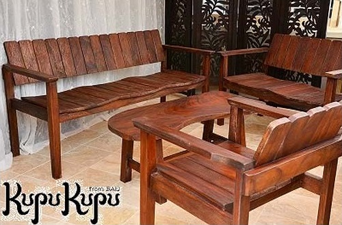ガーデン テーブルセット アンティーク風 4点セット チェア テーブル ダークブラウン ガーデン 3人掛け 2人掛け 無垢 ベンチ ローテーブル アジアン家具