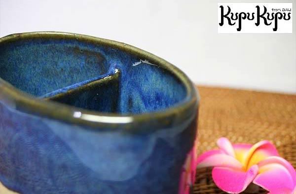 ◆アジアン雑貨 ジェンガラ社製 箸立て [青色] 贈答用箱付き