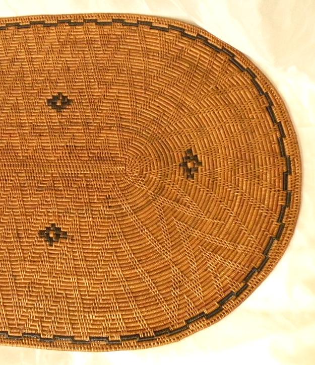 アタのラグマット(楕円)【バリ・アジアン雑貨バリパラダイス】