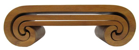 チーク渦巻きディスプレイ台収納タイプ3点セット ナチュラル【バリ・アジアン雑貨バリパラダイス】
