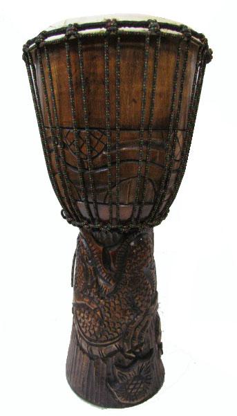 ジャンベ(太鼓)60cmカービングドラゴン【バリ・アジアン雑貨バリパラダイス】