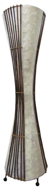 シェル&WOOD砂時計型ランプ100【バリ・アジアン雑貨バリパラダイス】