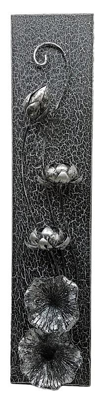 憧れ ウォールデコレーションロータスブラックシルバー 90*20【バリ・アジアン雑貨バリパラダイス】, タキチョウ:d1102626 --- business.personalco5.dominiotemporario.com