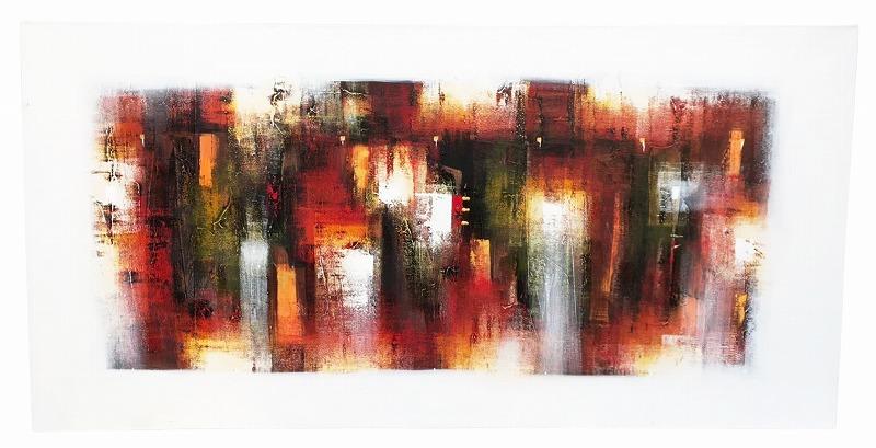 【大型】抽象画100*200WHベース系 【バリ・アジアン雑貨バリパラダイス】