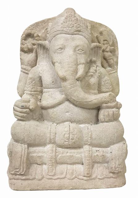 ガネーシャ石像 H30【バリ・アジアン雑貨バリパラダイス】