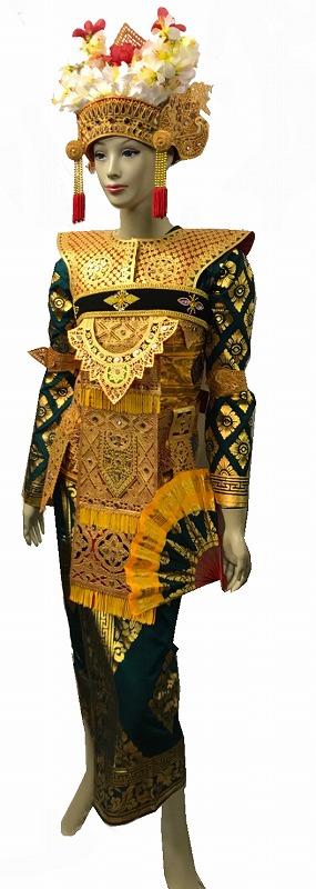 民族衣装 レゴンダンス 一式セット【バリ・アジアン雑貨バリパラダイス】