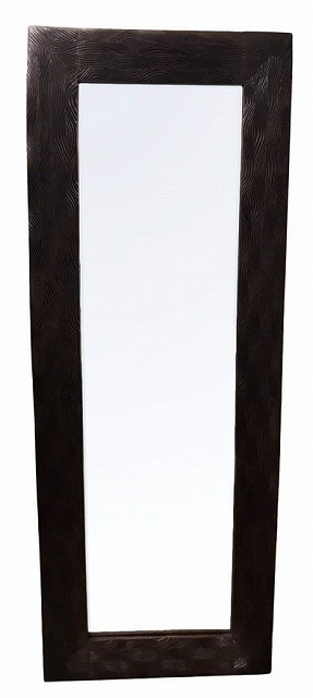 【大型】天然木格子模様ミラー H158.5【バリ・アジアン雑貨バリパラダイス】