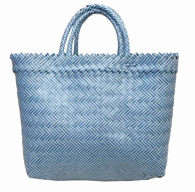 6 600円以上 税込 ご購入の場合 中古 送料無料 公式ショップ パサールバッグW30水色 バリニーズ御用達の市場への買い物バッグです アジアン雑貨バリパラダイス バリ バリ島直輸入