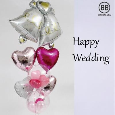 バルーン電報(電報)結婚式♪ウェディングベル(Lサイズ)♪♪ バルーン 祝電 結婚祝い 2次会 装飾