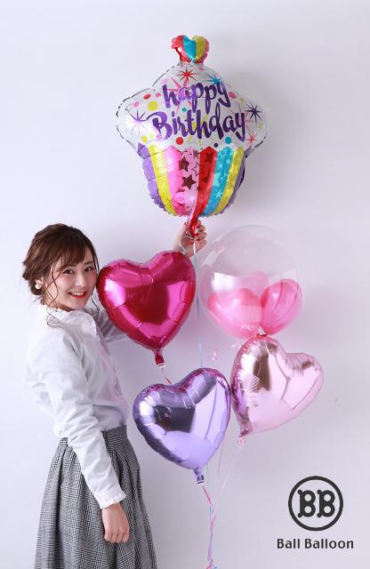 バルーン 誕生日♪ バースデー カップケーキ♪ バルーン 誕生日 送料無料 バースデー 飾り バルーンギフト プレゼント