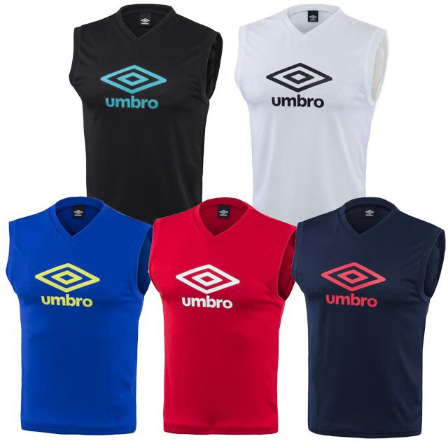 サッカー 好評受付中 フットサルウェア プラシャツ 物品 アンブロ ジュニア フットサル ノースリーブ メール便可 UUJPJA66 Vネック トレーニングウェア UMBRO2020SS ゆうパケット