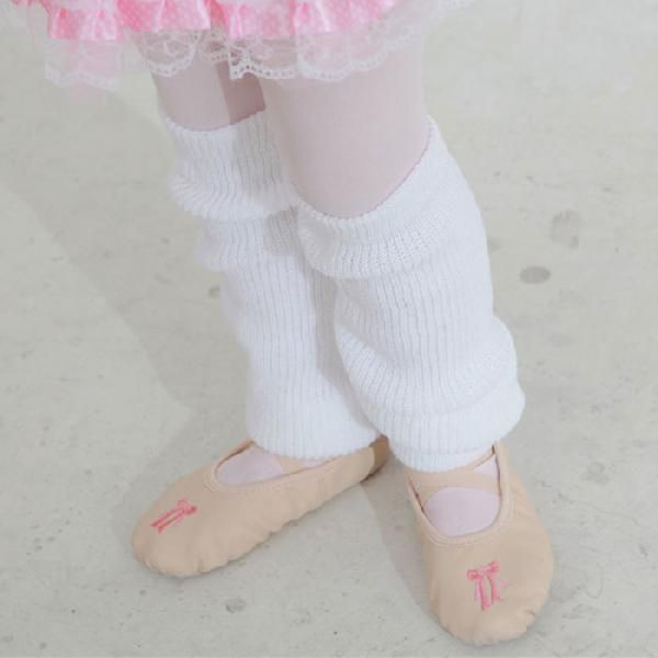 バレエレッグウォーマー【白色】レッグカバー/35センチ/バレエ用品/ダンス小物