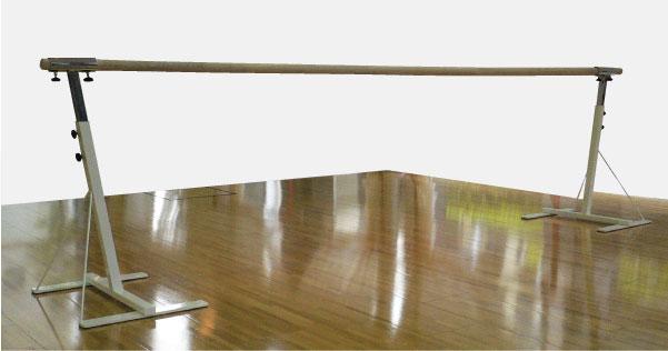 バレエレッスンバー クリスタルバー プロユース1段可動式 バー3mタイプ CBP-L800,スタジオ,教室,バレエ用品