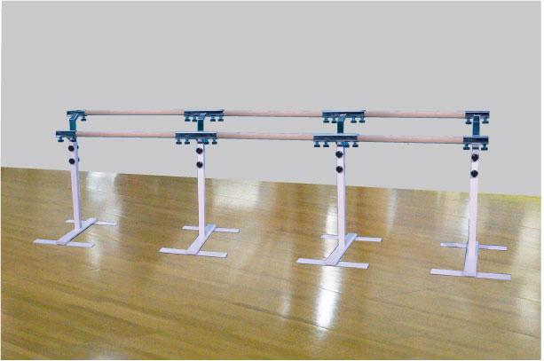バレエレッスンバー クリスタルバー プロユース ツインタイプ可動式3連ユニット バー3m TW-L300,スタジオ,教室,バレエ用品