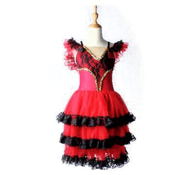 バレエ 衣装 子供【販売】キトリ,スペインの踊り, ロマンティックチュチュ,ヴァリエーション衣装
