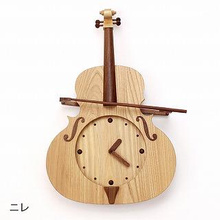 ヴァイオリン木製振子時計 楡,ヴァイオリン発表会プレゼント