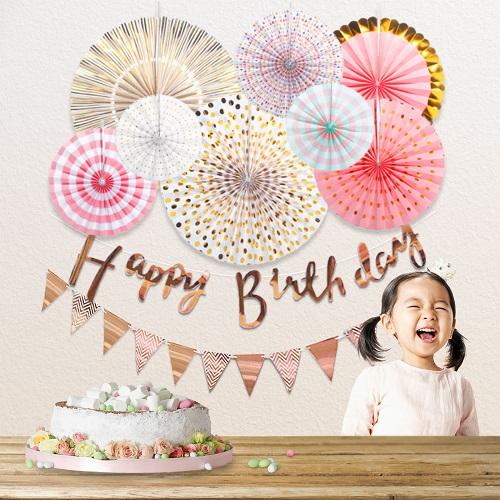 誕生日 ハーフバースデー 100日のお祝いのデコレーション 飾り バースデー ペーパーファン hb-001 ガーランド 日本製 永遠の定番モデル HAPPY BIRTHDAY 1歳 送料無料 ハッピーバースデー パーティー 飾りつけ 飾り付け 2歳 3歳 デコレーション