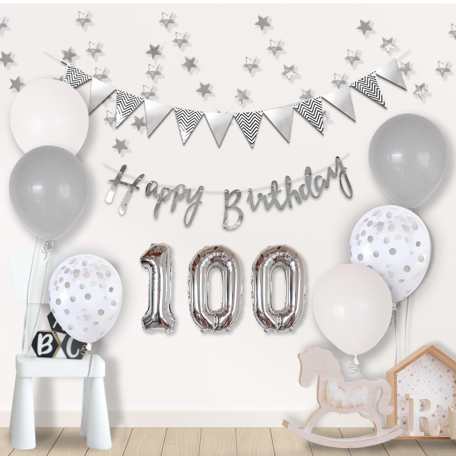 100日 誕生日 バルーン バースデー 100days 飾り お祝い 100日バースデー 3か月 風船 100日誕生日 おしゃれ HAPPY 売店 モノトーン ハッピーバースデー ピンク 送料無料 パープル ゴールド ブルー BIRTHDAY お得クーポン発行中