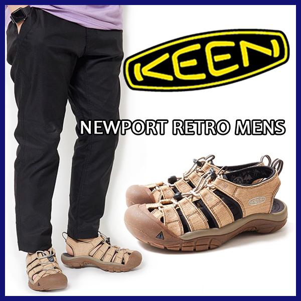 【正規取扱店 送料無料】KEEN キーンNEWPORT RETRO MENS ニューポート レトロ メンズサンダル ヘンプ HEMP CAMP フェス フジロック