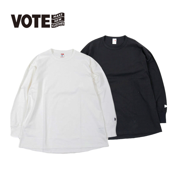 VOTE MAKE NEW CLOTHES ヴォートメイクニュークローズ FAT L/S TEE ファット ロングスリーブ ティ ビッグ T TEE ロンT ロンティー ユニセックス シンプル カットソー スケーター フェス フジロック