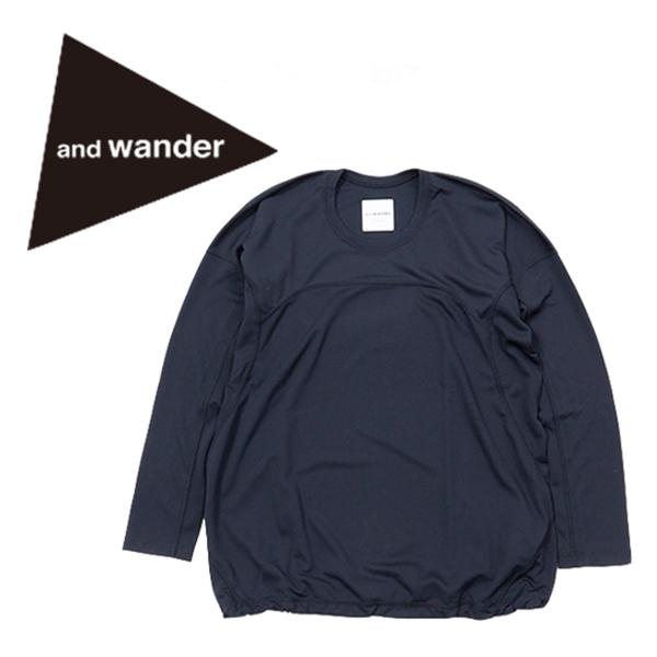 【送料無料】and wander アンドワンダー DRY JERSEY L/S T WS ドライジャージィー吸湿 速乾 TEE ロングスリーブ ロンT ロンティー カットソー ベースレイヤー 登山 ハイキング フェス アウトドア CAMP