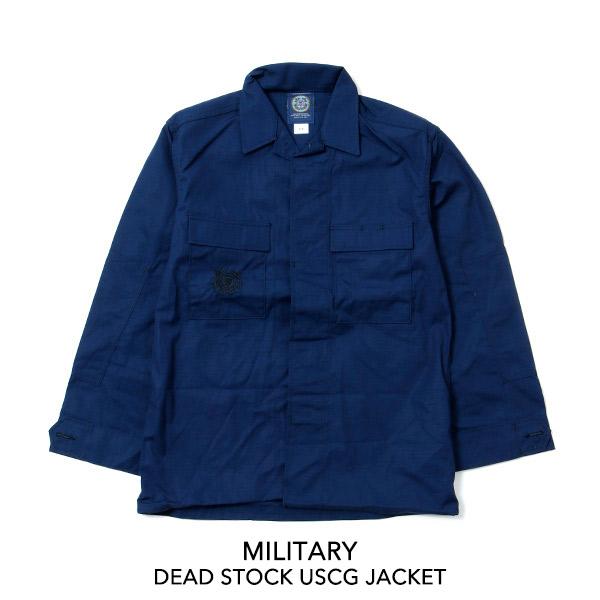 MILITARY ミリタリー DEAD STOCK USCG JACKET デッドストック ジャケット 【送料無料】アウター シャツ シャツジャケット コットン ナイロン アメリカ軍 USA 米軍 海兵隊