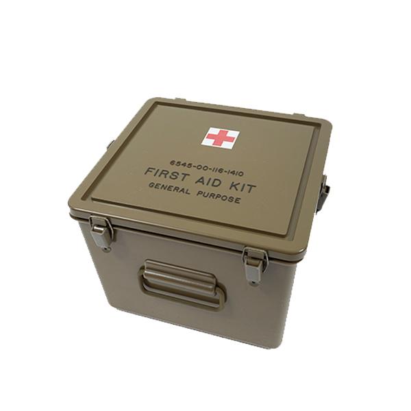 MILITARY ミリタリー DEAD STOCK G.I. MEDICAL BOX 実物 新品 米軍 プラスチック メディカルボックス デッドストック アメリカ軍 米軍 実物 救急箱 小物入れ プラスティックケース CAMP キャンプ アウトドア インテリア ギアケース 軍放出品 メディカル ボックス