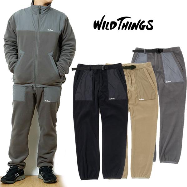 【送料無料】WILD THINGS ワイルドシングスSNOW TRACK PANTS スノウ トラックパンツ フリース クライミング パンツ CAMP フェス アウトドアファッション テーパード パンツ ポーラテック ウィンドプロ