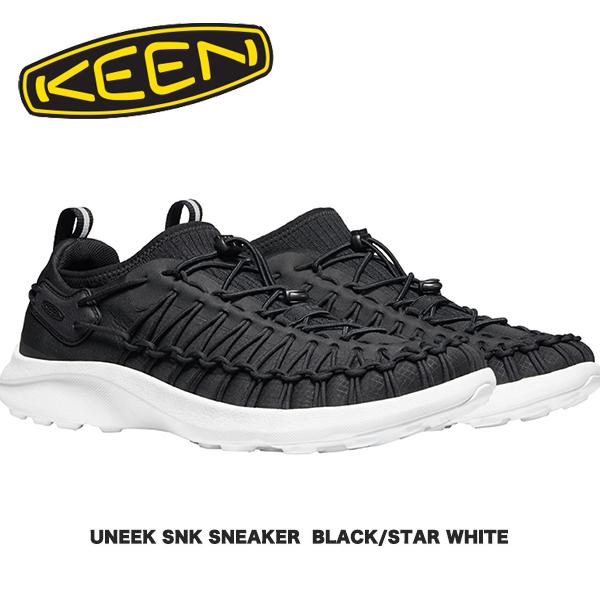 アイコニックな2本のコードが映える新感覚のスニーカー KEEN キーン UNEEK SNK 舗 SNEAKER BLACK STAR WHITE ユニークスニーク アウトドア スニーカー 舗 CAMP カジュアル シューズ フェス キャンプ FES ファッション
