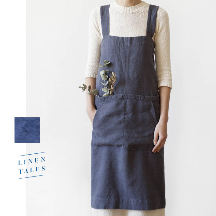 LINEN TALES(リネン テイルズ)Pinafore apron(ピナフォアエプロン)【CC-PA01】