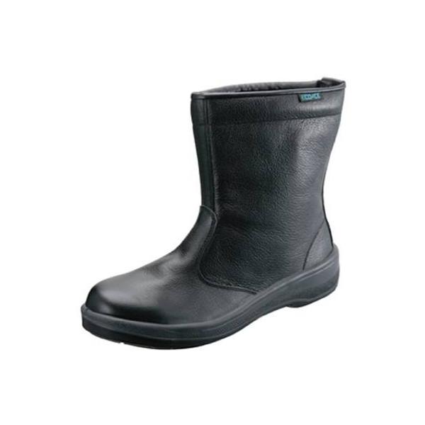 安全靴 シモン ECO44 半長靴 黒 静電JIS合格 耐滑合格