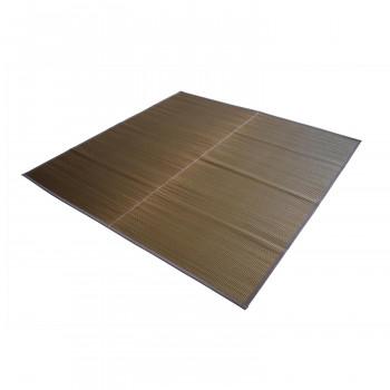 トーシン い草 ラグ 紋織 優雅 ブラウン 174×174cm メーカ直送品  代引き不可/同梱不可