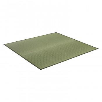 トーシン い草 ラグ 掛川織 伊吹 グリーン 174×174cm メーカ直送品  代引き不可/同梱不可