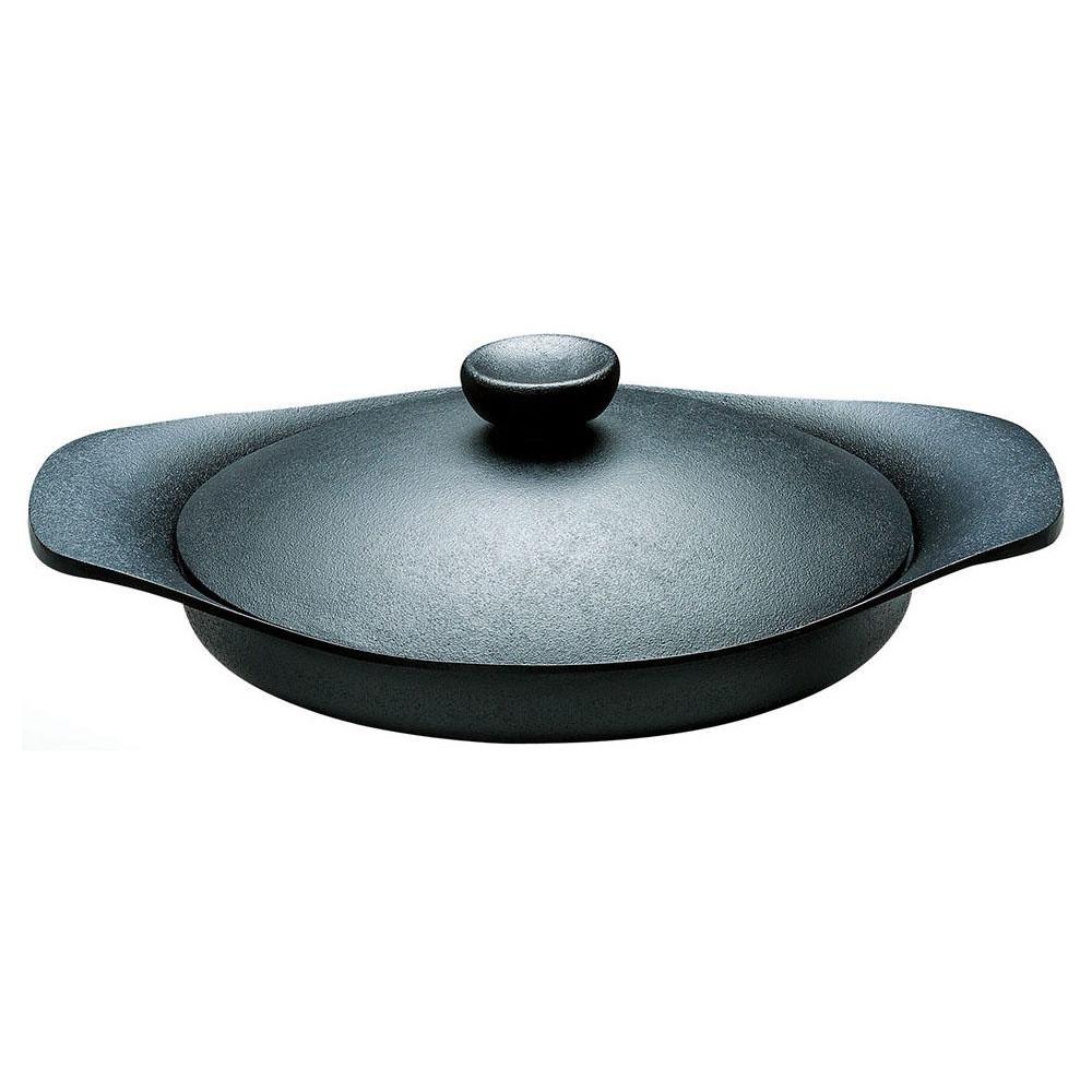 柳宗理 南部鉄器 グリルパン 22cm 鉄ふた・ハンドル付 代引き不可/同梱不可