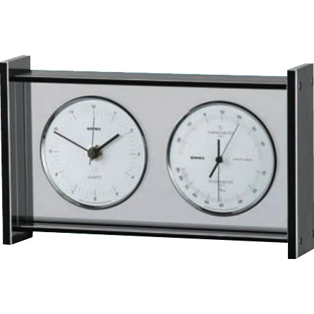 EMPEX(エンペックス気象計) スーパーEX ギャラリー温・湿度・時計 EX-792 メーカ直送品  代引き不可/同梱不可