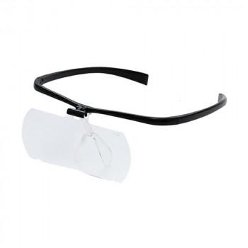 メガネルーペII HF-60DEF レンズ3枚組(1.6倍・2.0倍・2.3倍) ブラック 074097 メーカ直送品  代引き不可/同梱不可
