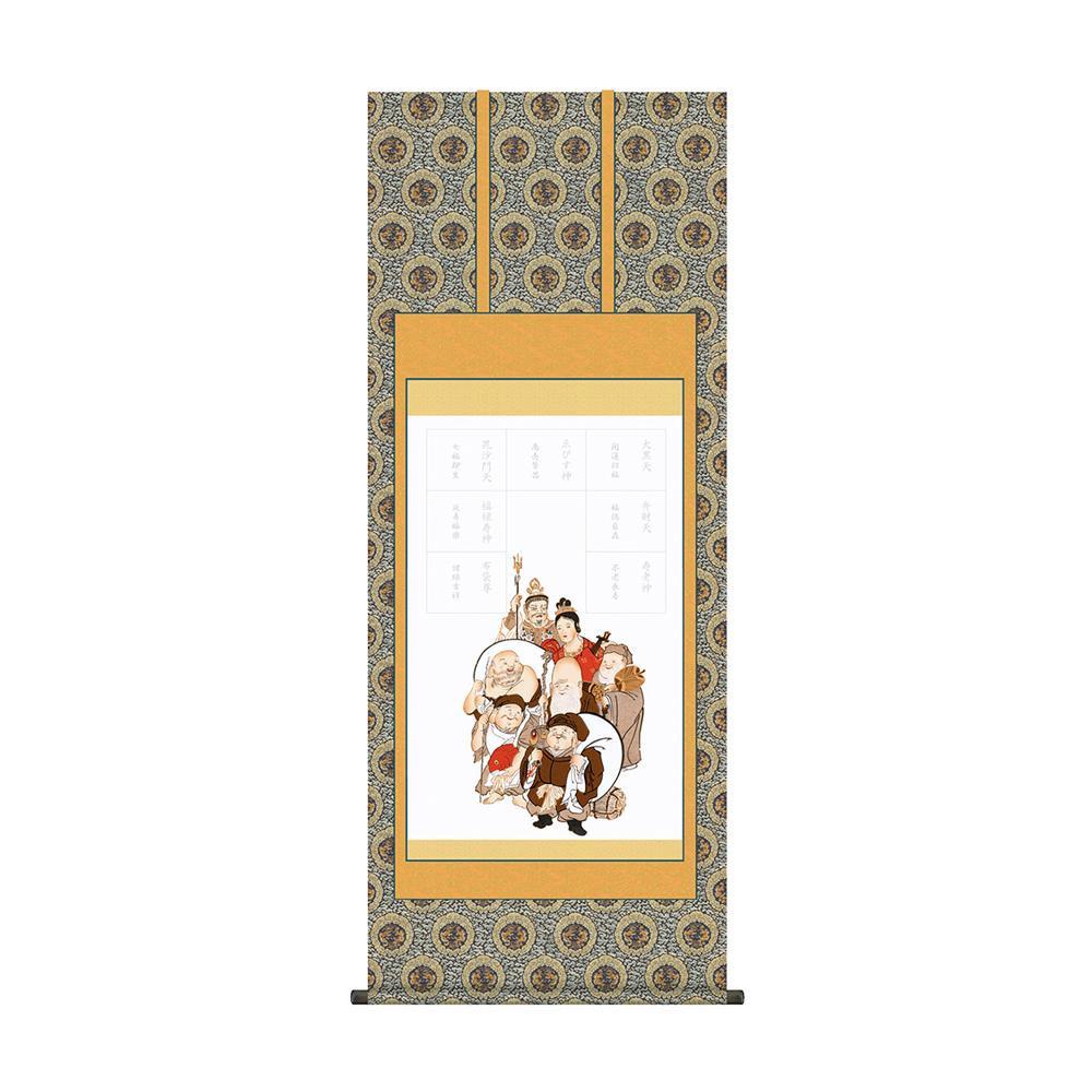 納経集印掛軸 「七福神巡礼」 N3-001 54.5×134.5cm メーカ直送品  代引き不可/同梱不可