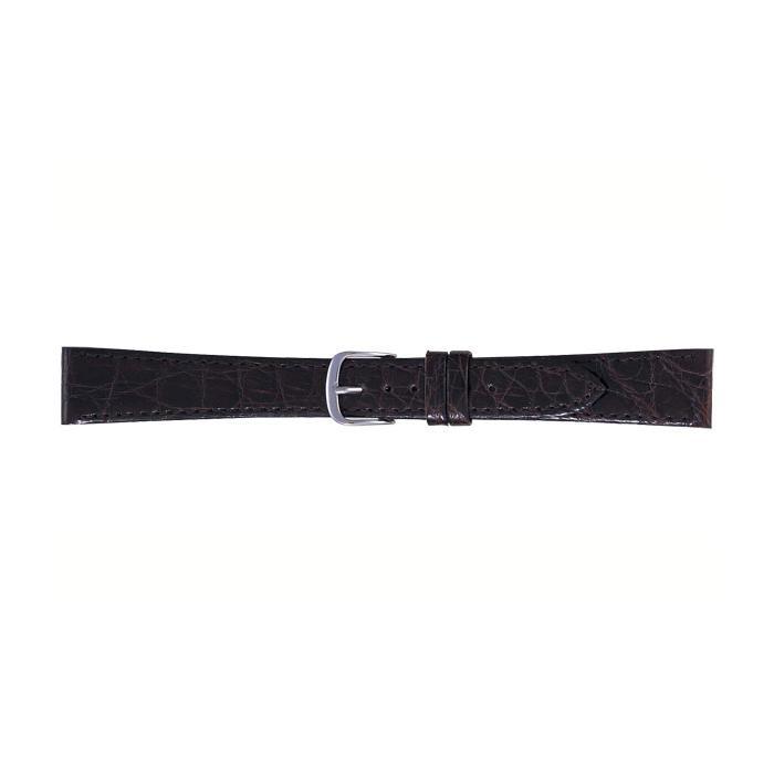 BAMBI バンビ 時計バンド ワニ革 チョコ(美錠:白) BWA251BO メーカ直送品  /同梱不可