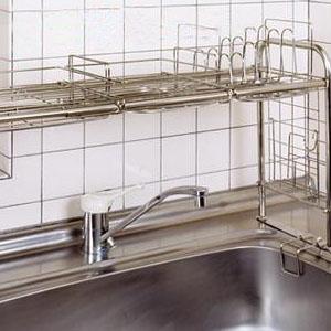 キチンとキッチンシンク収納ラック(組立式) KS-2712 代引き不可/同梱不可