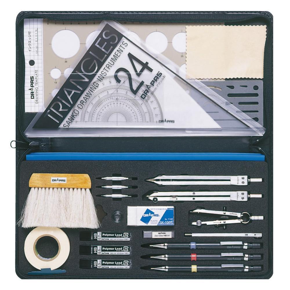 ドラパス オール・イン・ワン製図器10本組25品 メーカ直送品  代引き不可/同梱不可