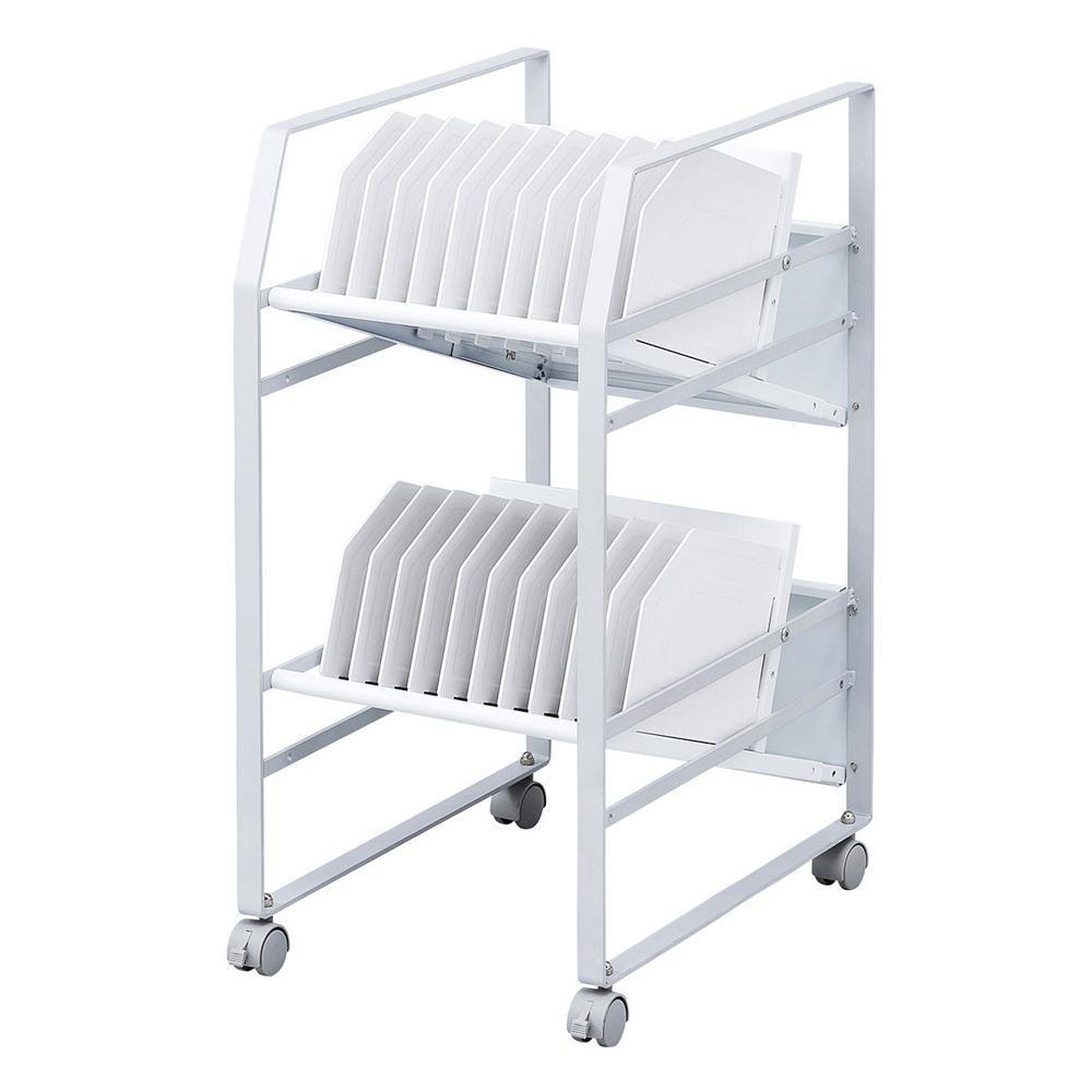 サンワサプライ タブレットワゴン(2段) RAC-TABWG2 メーカ直送品  代引き不可/同梱不可