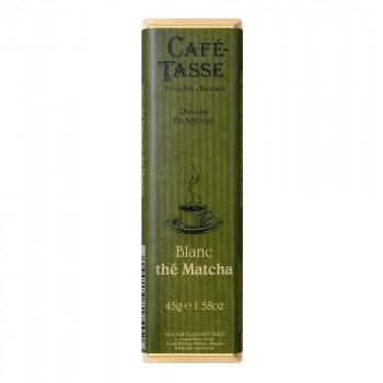 抹茶の風味が豊かなチョコレートです CAFE-TASSE カフェタッセ 抹茶ホワイトチョコ 同梱不可 代引き不可 メーカ直送品 当店一番人気 激安通販専門店 45g×15個セット