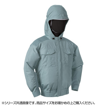 NB-101A 空調服 充白セット 5L モスグリーン チタン フード 8209892 メーカ直送品  代引き不可/同梱不可