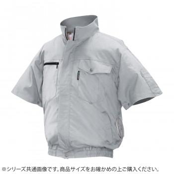 ND-2011C Nクールウェア 半袖 充白セット 2L シルバー 綿 タチエリ 8119490 メーカ直送品  代引き不可/同梱不可