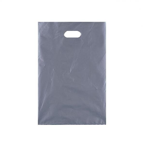 シティバッグ ポリ手提袋 M 370×500mm 300枚 シルバー 4191 メーカ直送品  代引き不可/同梱不可