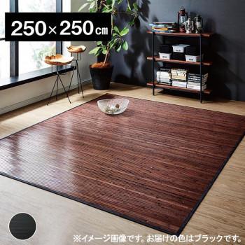 竹カーペット 『ユニバース』 ブラック 250×250cm 5352240 メーカ直送品  代引き不可/同梱不可