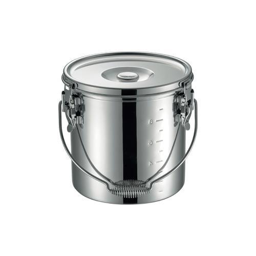 19-0スタッキング給食缶 27cm 007750-027 メーカ直送品  代引き不可/同梱不可