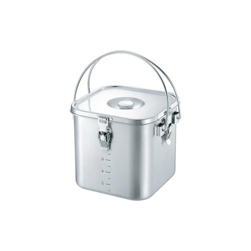 19-0 IH対応角型給食缶 22cm 007715-022 メーカ直送品  代引き不可/同梱不可
