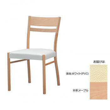 MIKIMOKU ミキモク 楓の森 チェア KMC-520II KNA(メープル) ホワイト(PVC) メーカ直送品  代引き不可/同梱不可